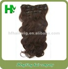 TOP Quality Remy Peruvian indian/brazilian Human Clip in Hair Extensions