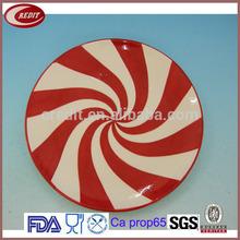 Candy Design Ceramic X'mas 8inch Salad Plate