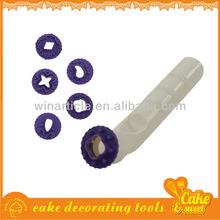 9 Pcs Plastic industrial cookie press
