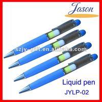 liquid dispensing pen,custom liquid filled pen,liquid float pen