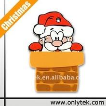 Christmas style PVC USB Flash Drive