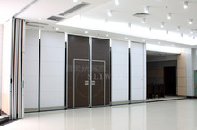 China Aluminium Movable Sliding Interior door Sound Proof Folding Wall Partition In Commercial Offices