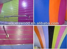 slotted mdf /slot wall board/Slatwall MDF Board