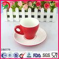 Personnalisés imprimés tasses à café, porcelaine tasse de café et soucoupe