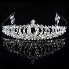 Silver Gorgeous Crystal Accents Bridal Prom Tiara wedding tiara KSLN0048