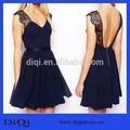 2014 nova moda casual vestido estilo europeu laço vestido de chiffon