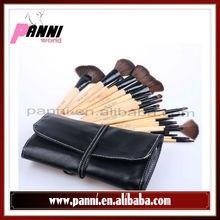 Hot 24 PCS Professional Makeup Brush Eyeshadow Cosmetic Brushes Set&Leather Bag Good Quality