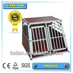 High quality double dog cage folding dog cage