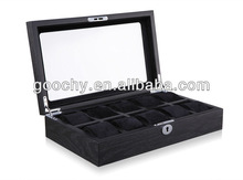 GC02-SP-10W 10 grid wood watch box Watch display show case with coded lock Big watch suitable top visiable best gift