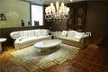 caliente moderno de gama alta de estilo italiano de lujo blanco sofá de la sala de muebles de cuero