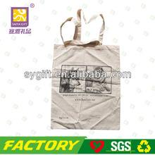 popular silk one color printing cotton bag