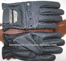 Top quality Leather Dressing gloves / horse ridding gloves/cow hide leather gloves