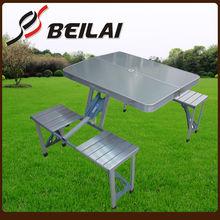 Outdoor foldable aluminium camping table