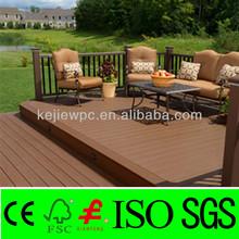 Anti-UV Wood Plastic Composite WPC Verandas Easy Deck Flooring Tile Outdoor Furniture