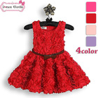 high fashion baby clothes online summer dresses girls red rose dress