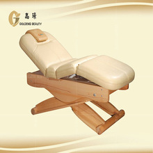 wooden therapy bed cosmetic beauty furniture massage table