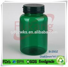 transparent green plastic pill bottle,,250cc PET plastic bottle making factory,plastic vitamin bottles tamper proof cap