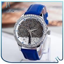 Latest Style Diamond Face Luxury Watch, Europe Standard Vintage Watch, Leather Wrist Kid Watches