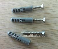 Nylon fishlike Wall Plug or fisher anchor with nails