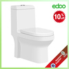Ceramic alibaba supplier 4 inch outet one piece toilet blow with built in bidet moduler house