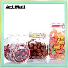 Clear wedding decorative mini glass candy jars wholesale
