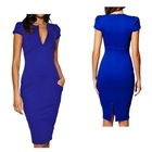 New Arrival Women's Clothing V Neck Bodycon Pencil Party Dress
