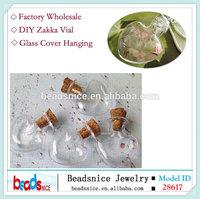 Beadsnice ID 28617 Zakka heart shape glass bottles lovely design for glass pendant 36mm glass vial
