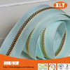 2014 Zipper factory new arrival high quality metal zipper roll with decorative zipper tape