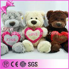 2014 Most Popular 3 color option Cute Soft Stuffed Bear Wholesale Cheap Plush Toy