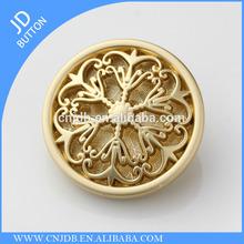 high end upscale women's coat metal alloy button