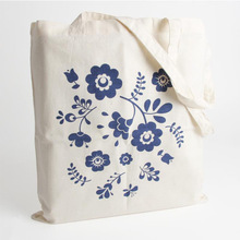 Fashion custom wholesale cotton floral tote bags (YC1617)