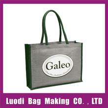 Wholesale reusable trendy promotional jute shopping bag,jute bag