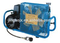 4500 psi portable air compressor for breathing air,100L/min,300bar