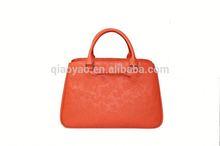 Embossment pu handbag pu tote bag ladies korea handbag