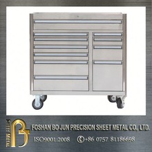 mobile roller stainless steel tool box with good cosmetic