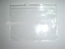 hot sale custom oxo bio degradable eco-friendly pvc clear plastic zipper pouch