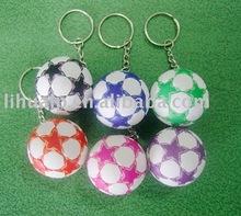 Leather Soccer Ball Keyring