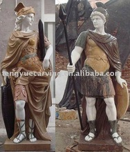 man and woman roman marble sculptures