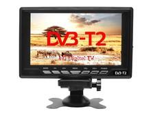 120-150Km/h 9-12V DC 7.5 inch portable TV with built-in tunner DVBT,DVB-T,DVB-T2 transmitter receiver built-in digital TV w