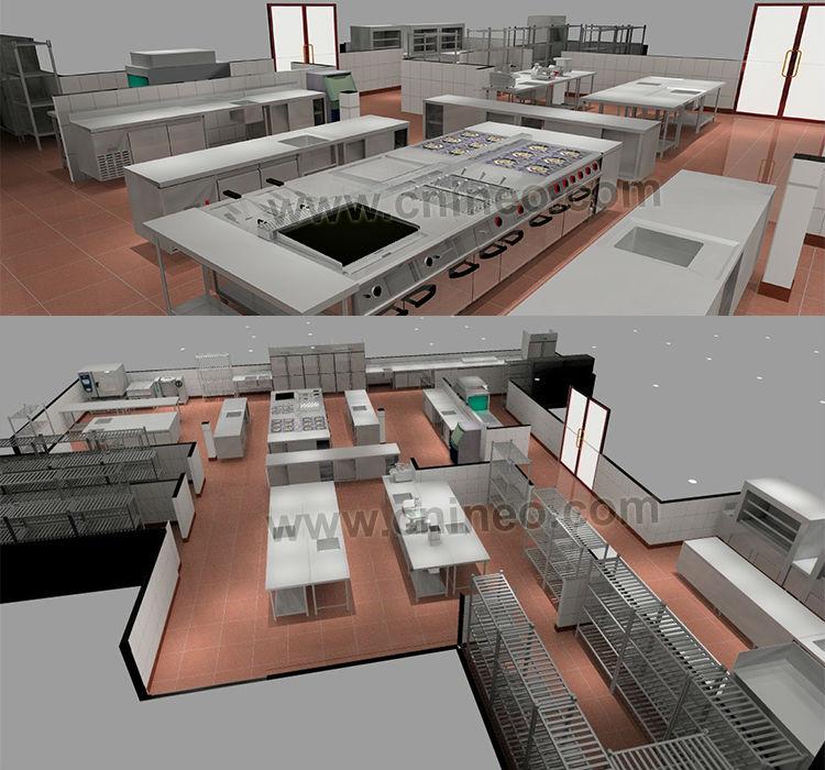 Profesional restaurant and hotel de la cocina de dise o - Diseno de cocina 3d ...