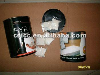 white waxed sawdust bbq fire starter