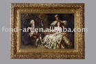 Antique Photo frame with oil painting ( classic style), woman oll painting,wall decoration framed oil painting