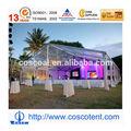 Transparente tienda de campaña para la boda y el partido