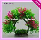 plastic aquarium accessories of plant for fish tank decoration