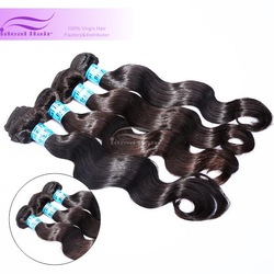 "Ideal hair products 12""~36"" Thick bottom tangle free wavy Top quality brazilian virgin hair"