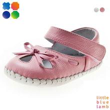 2013 nuevo estilo de primavera littlebluelamb natural de color rosa bebé de cuero zapatos de bebé bb-a3501