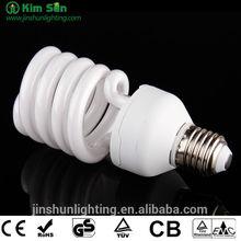 half Spiral energy save lamp,Half spiral CFL bulb,energy saving bulb