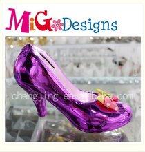 ceramic painted high-heeled shoe shape piggy bank