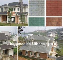 Colored asphalt roof shingle and asphalt roofing tile