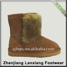 2013 winter warm women's cheap faux fur boots